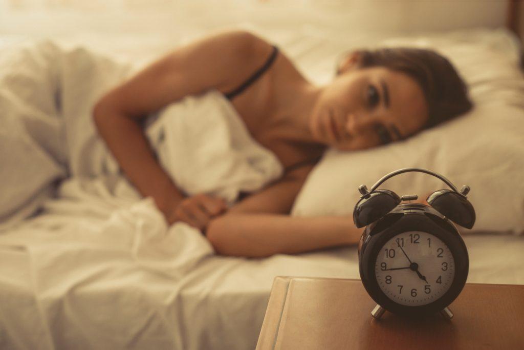 Slaapproblemen bij jonge vrouw