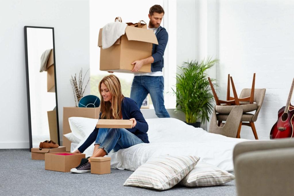 Verhuizen van een matras en bed