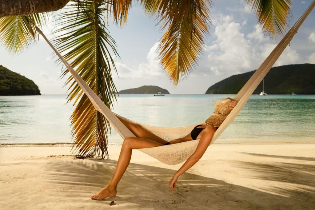 Slapen op het strand is gezond