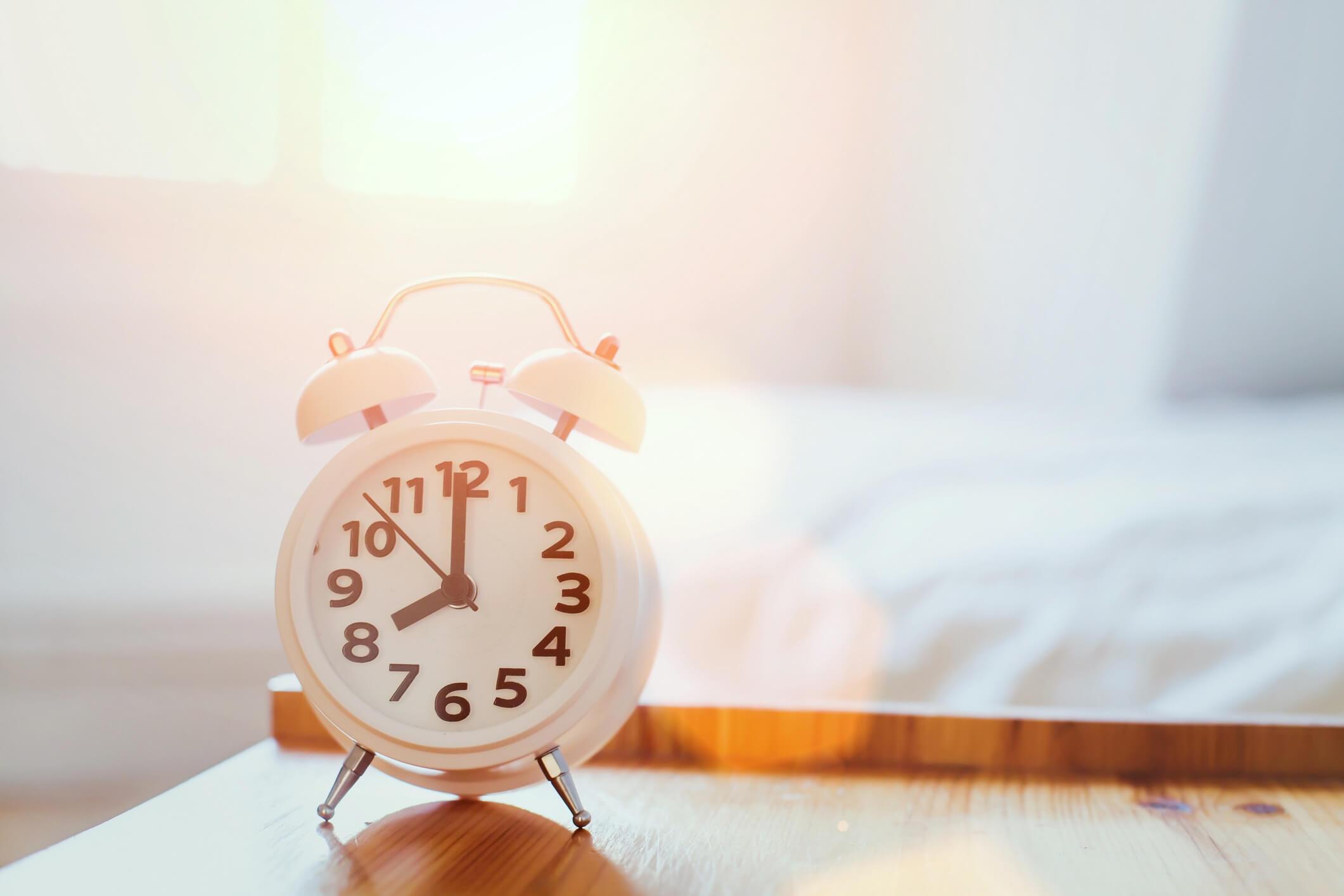 Snooze in de ochtend