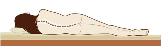 Hard matras en rugvorm